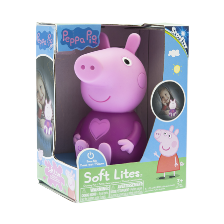 Soft Lites - Peppa Pig - Plug Free and Portable Nightlight - Pappe Pig