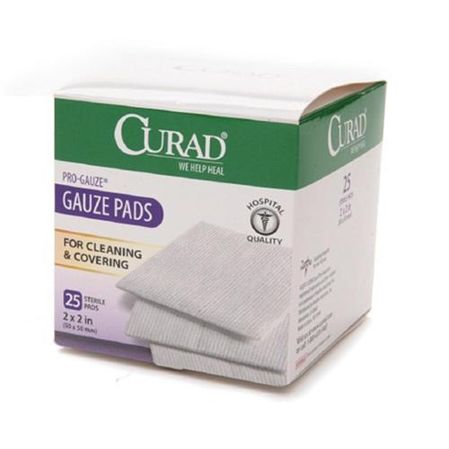 "Curad Sterile Pro Gauze Pads 2"" x 2""  25 ea (Pack of 3)"