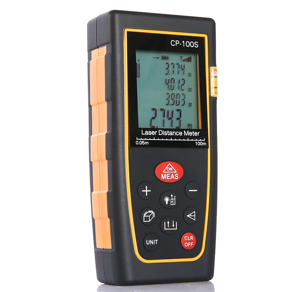 Professional 100M/328ft Digital LCD Laser Distance Meter Range Finder Measure