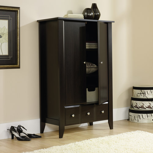 Product Image Sauder Shoal Creek Armoire, Jamocha Wood Finish