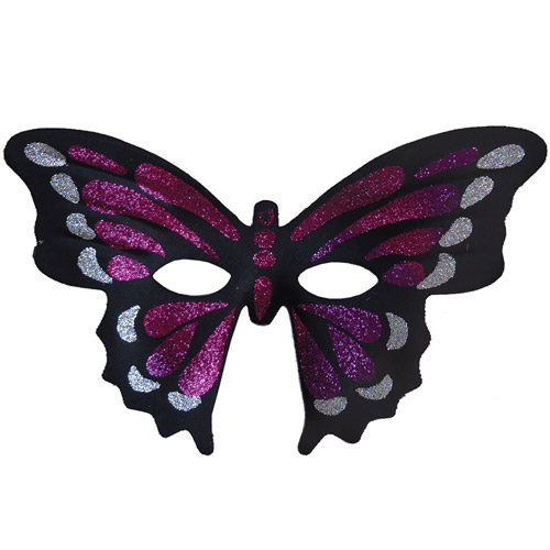 Purple Masquerade Butterfly Mask Adult Halloween Accessory