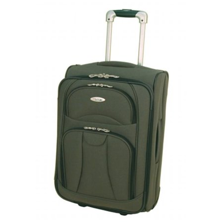 Samboro W201SG20RO Navigator Luggage 20 in. Expandable Cabin Trolley - Sage