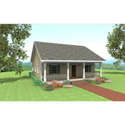 TheHouseDesigners-6516 Construction-Ready Cottage House Plan with Crawl Space Foundation (5 Printed Sets)