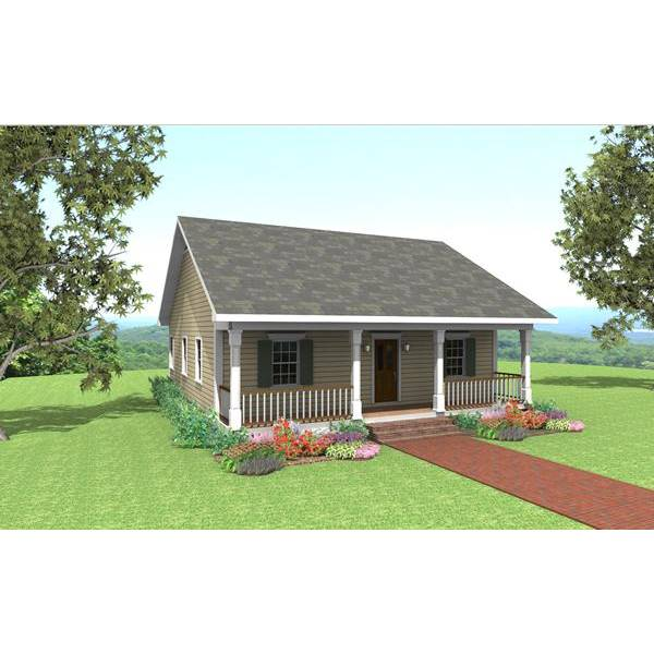TheHouseDesigners-6516 Cottage House Plan with Crawl Space Foundation (5 Printed Sets)