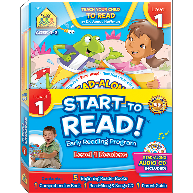 Start to Read! Level 1 Early Reading Program 6-Book Set