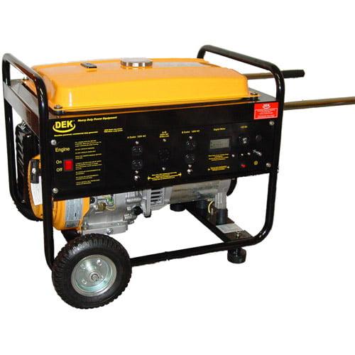 DEK 6,550 Running Watts 100 Percent Copper Alternator Commercial-Grade Portable Generator