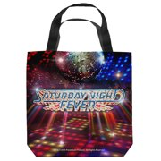 Saturday Night Fever Dance Floor Tote Bag White 9X9