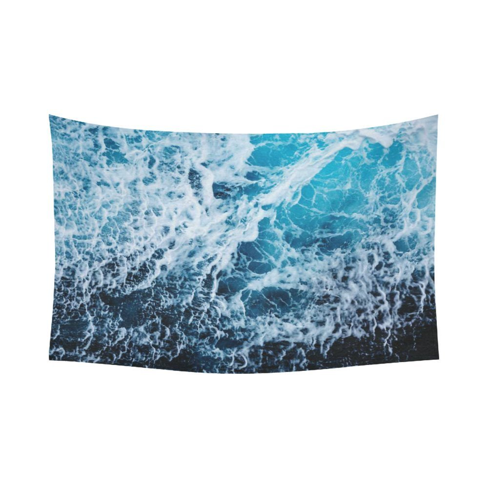 GCKG Beautiful Blue Ocean Wave Seascape Tapestry Horizontal Wall Hanging Sea Landscape Wall Decor Art for Living Room... by GCKG
