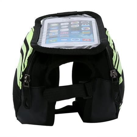 HERCHR Bike Bag, 3 Colors Waterproof Bicycle Frame Pannier Bike Front Head Top Tube Bag Cell Phone Accessories, Front Tube Bag