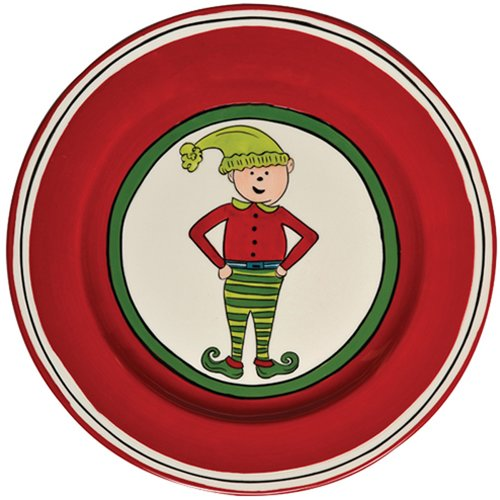 Thompson and Elm M.Bagwell 8.5'' Boy Elf Salad Plate