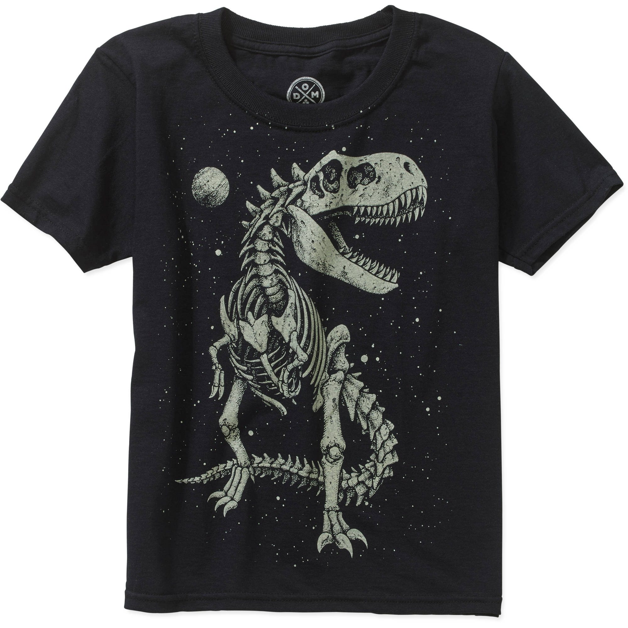 Boys' Glow in the Dark T-Rex Skeleton Short Sleeve Graphic Tee