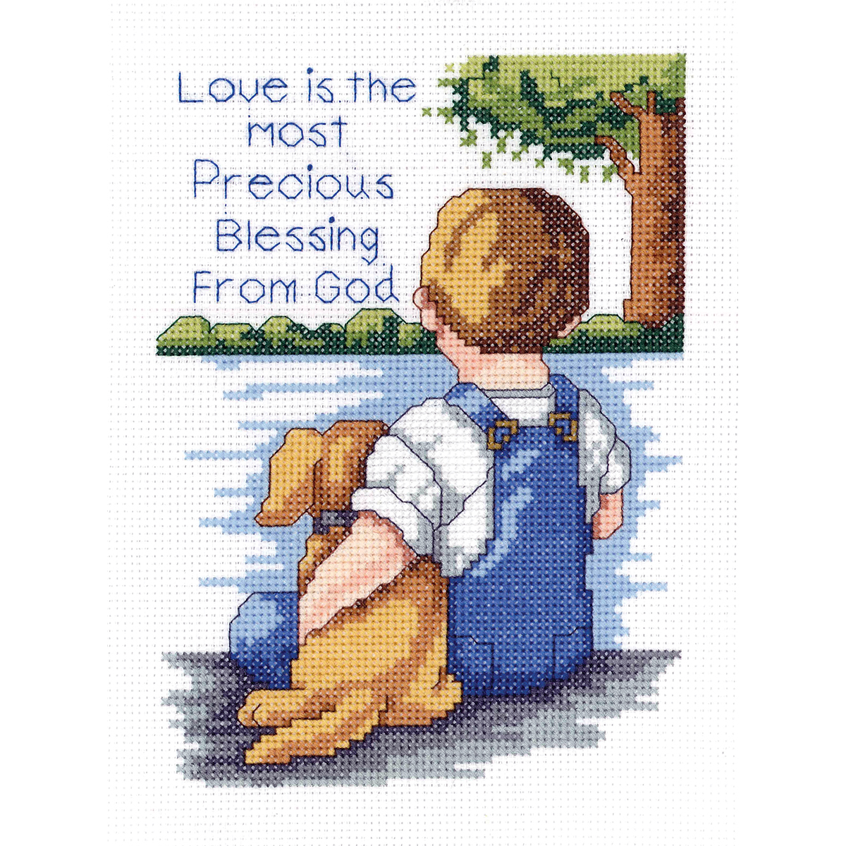 Janlynn 21-1745 Precious Blessing 5 by 7-Inch Counted Cross Stitch Kit, Mini Multi-Colored