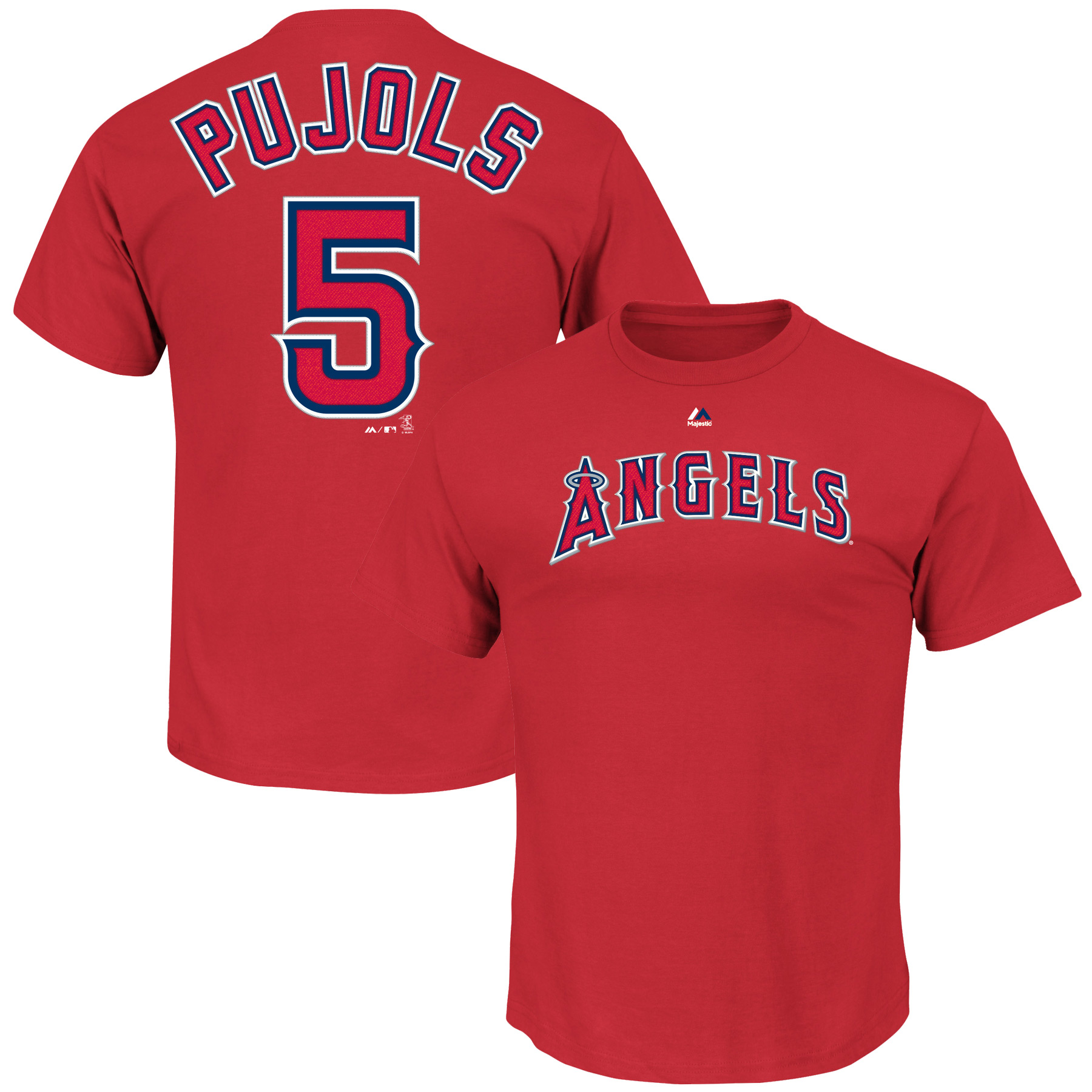 Albert Pujols Los Angeles Angels Majestic Big & Tall Official Player T-Shirt - Red