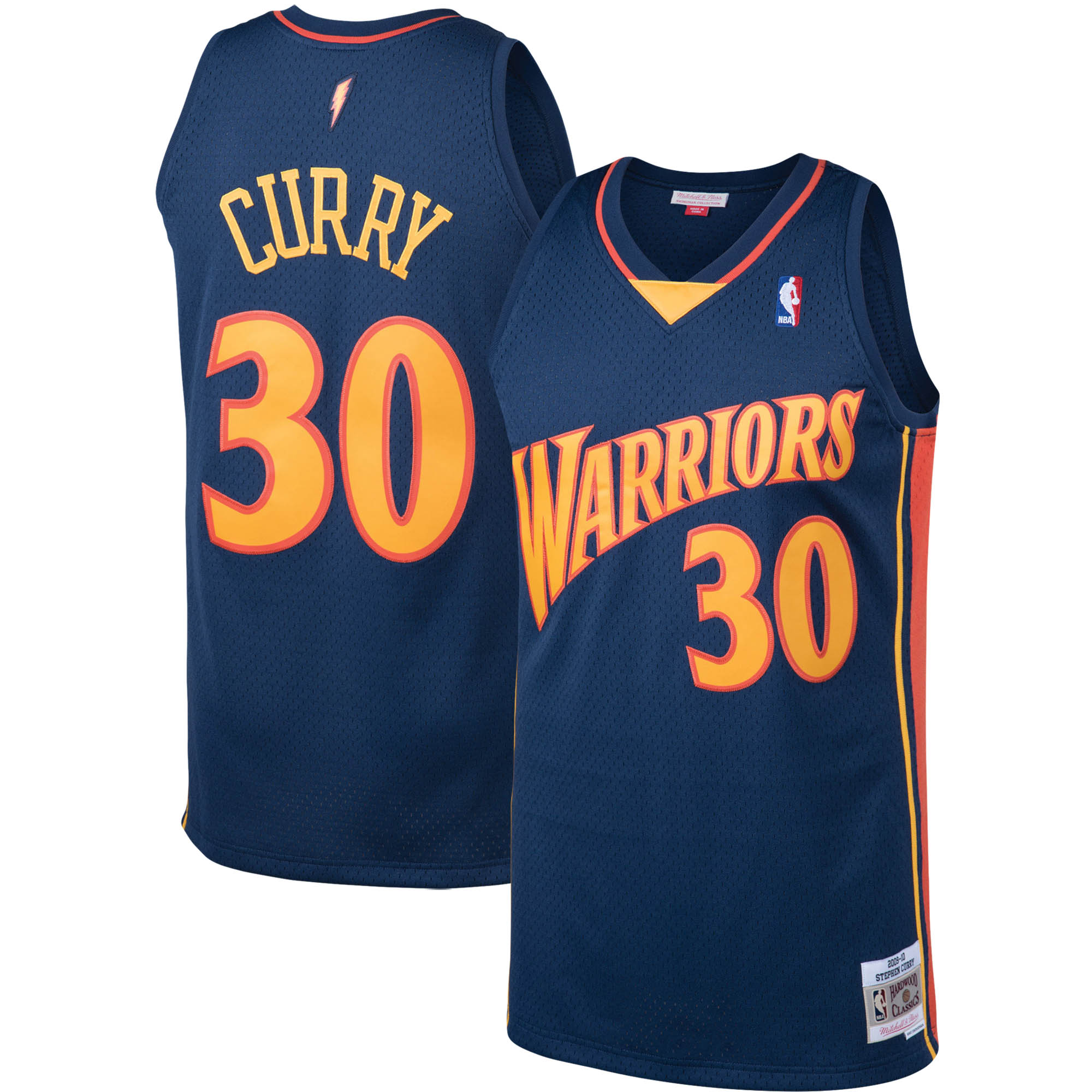 Stephen Curry Golden State Warriors Mitchell & Ness Big & Tall Hardwood Classics Jersey - Navy