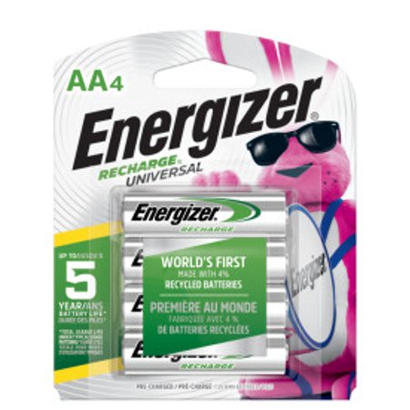 Energizer Recharge Power Plus Rechargeable AA Batteries, 4