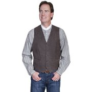 Scully 503-63-40 Mens Leather Wear Lamb Western Vest , Brown - 40