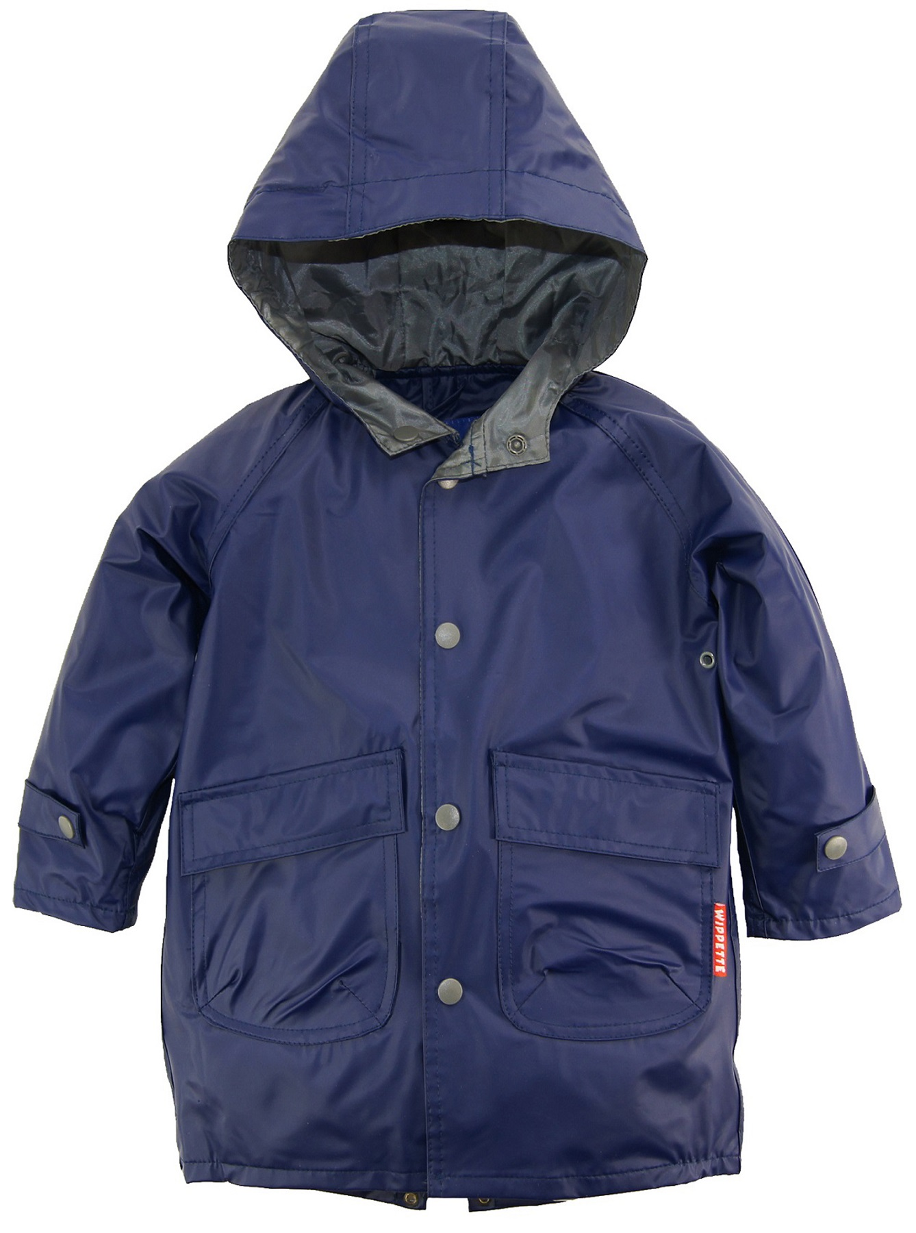 Wippette Little Boys Solid Hooded Fisherman Raincoat Anorak Jacket