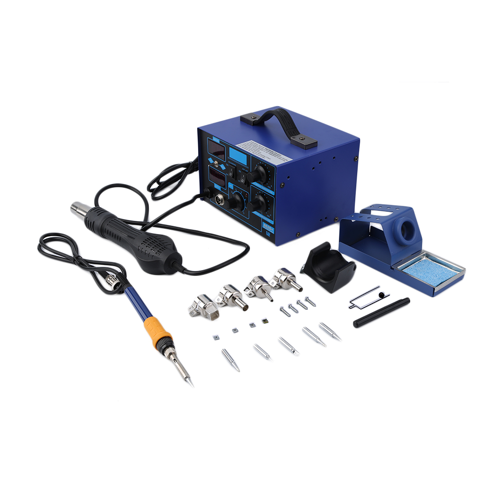 Hot Air Rework Station, SMD 2in1 862D+ Soldering Iron Welder Hot Air