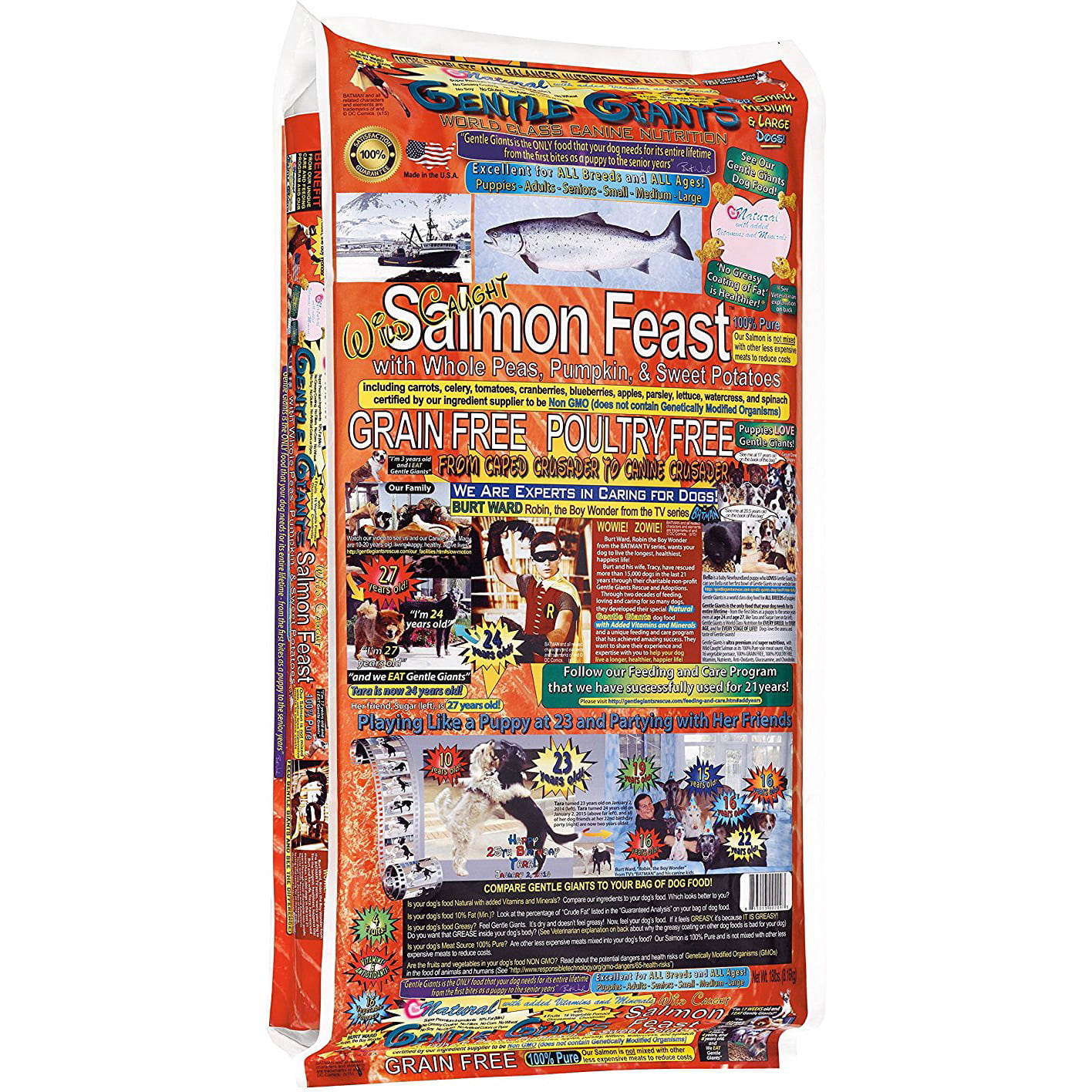 Gentle Giants Canine Cuisine Salmon Dry Dog Food, 18 lbs by Gentle Giants Rescue and Adoptions, Inc.