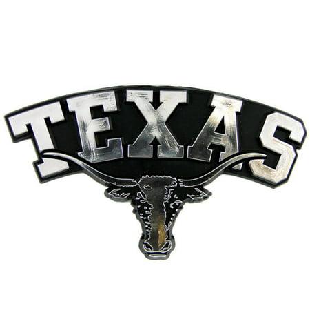 Texas Longhorns Silver Auto Emblem