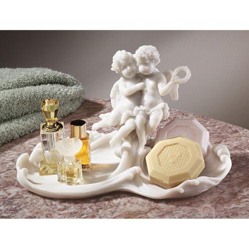 Design Toscano Versailles Angels Font Decorative Dish