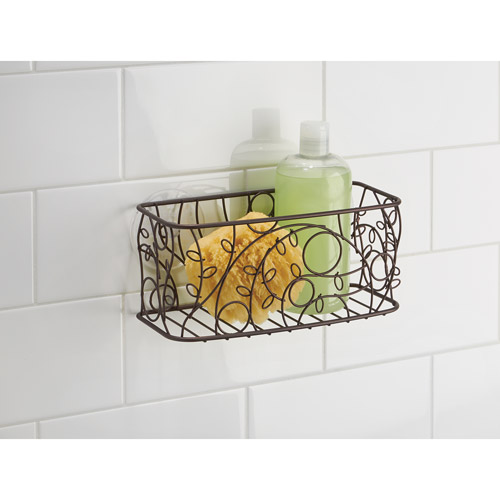 InterDesign Twigz Bronze Suction Corner Shower Basket Bath Caddy