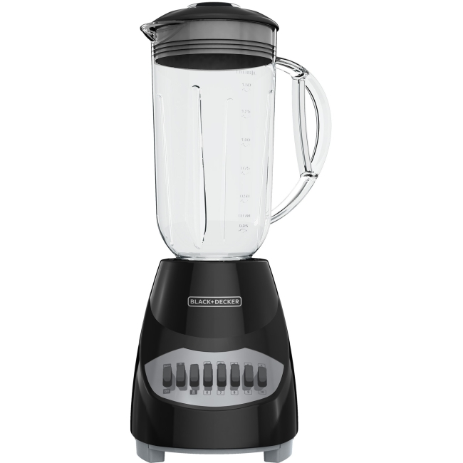 Black & Decker 10-Speed Blender - 450 W - 1.25 quart - 10 Speed Setting (s) - 5 Cup - 120 V AC - Stainless Steel, Plastic