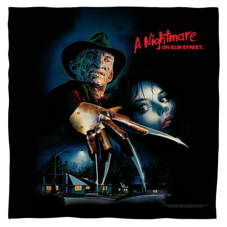 Nightmare On Elm Street Freddy Krueger Slasher Movie Poster Bandana ()