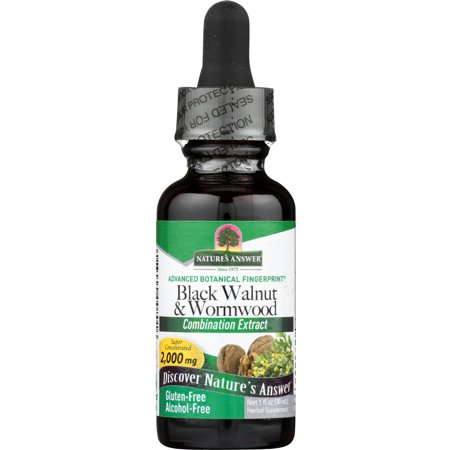 Nature's Answer Black Walnut & Wormwood, 1 Fl Oz