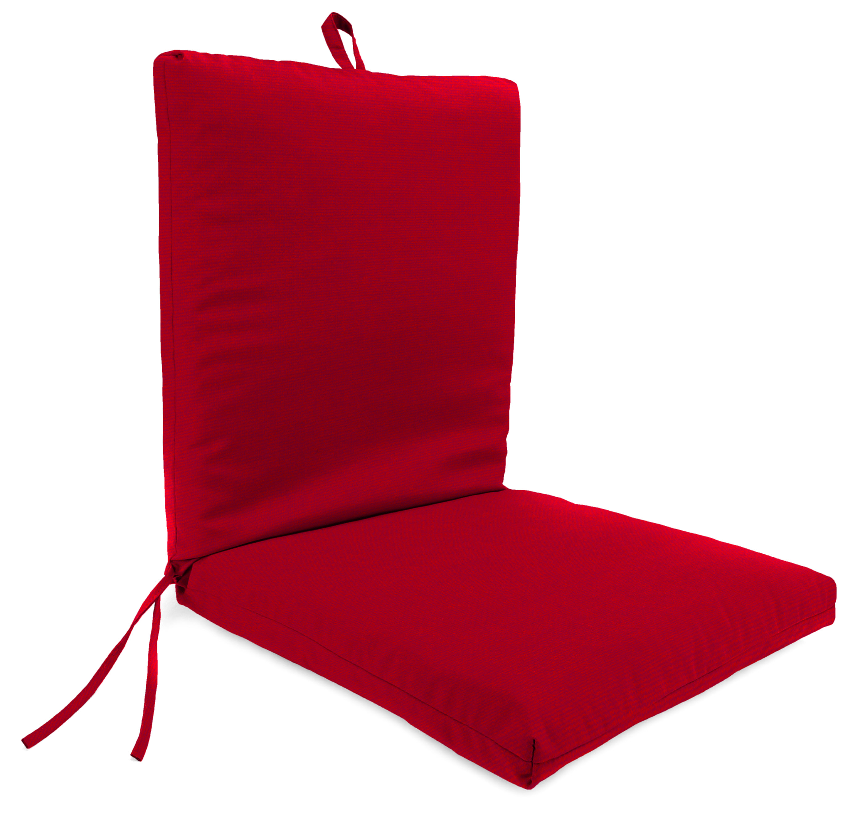Mainstays Red Solid 1pc Chair Cushion