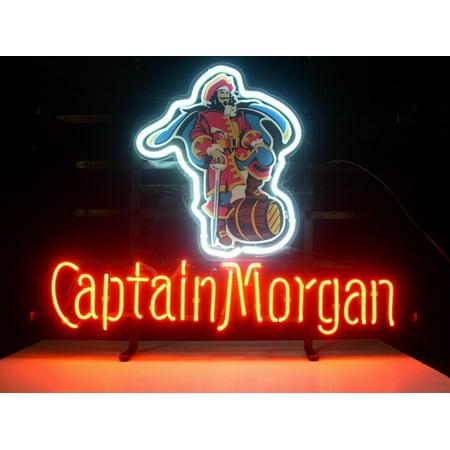 Desung Brand New Captain Morgan Neon Sign Lamp Glass Beer Bar Pub Man Cave Sports Store Shop Wall Decor Neon Light 20
