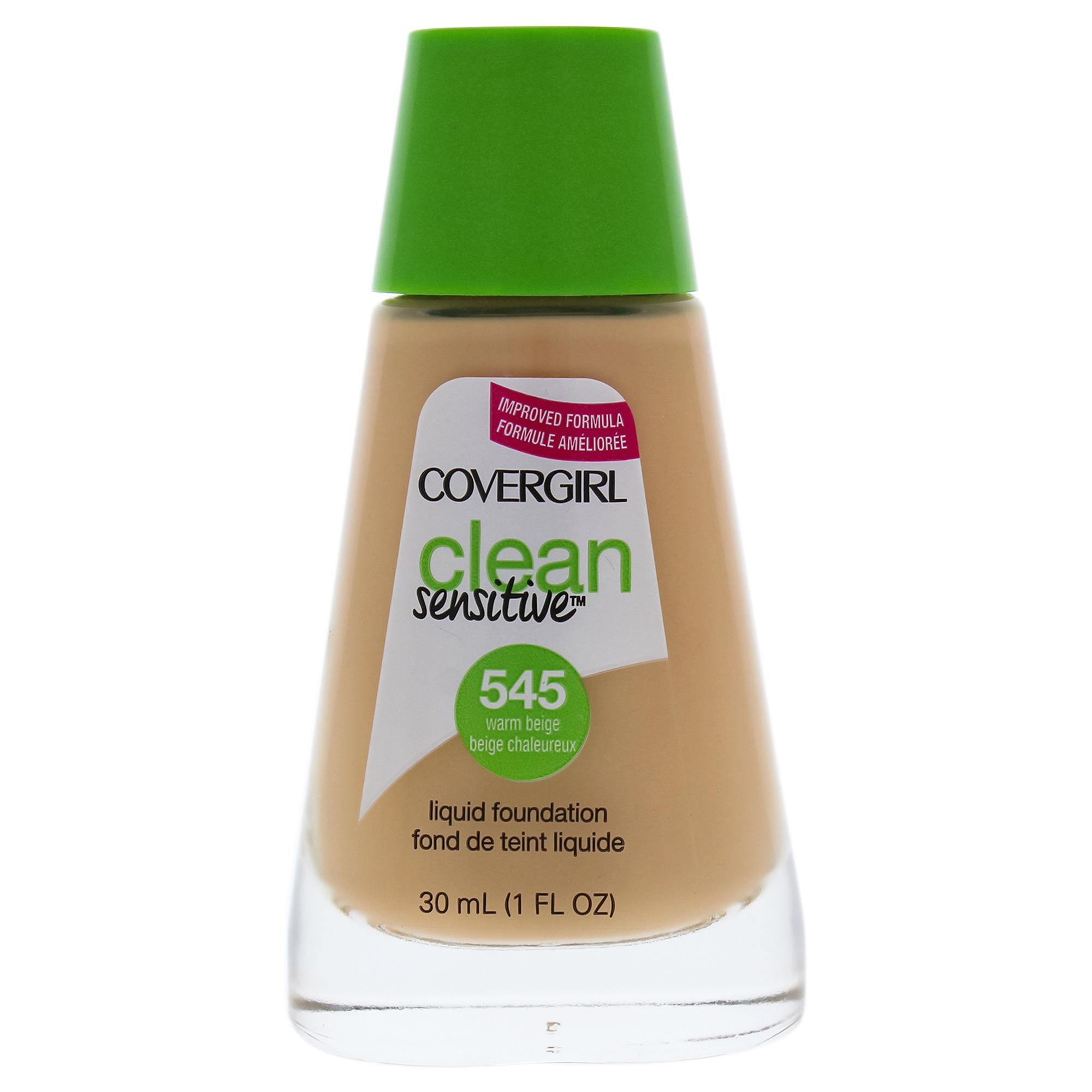 Clean Sensitive Liquid Foundation - # 545 Warm Beige by CoverGirl for Women - 1 oz Foundation