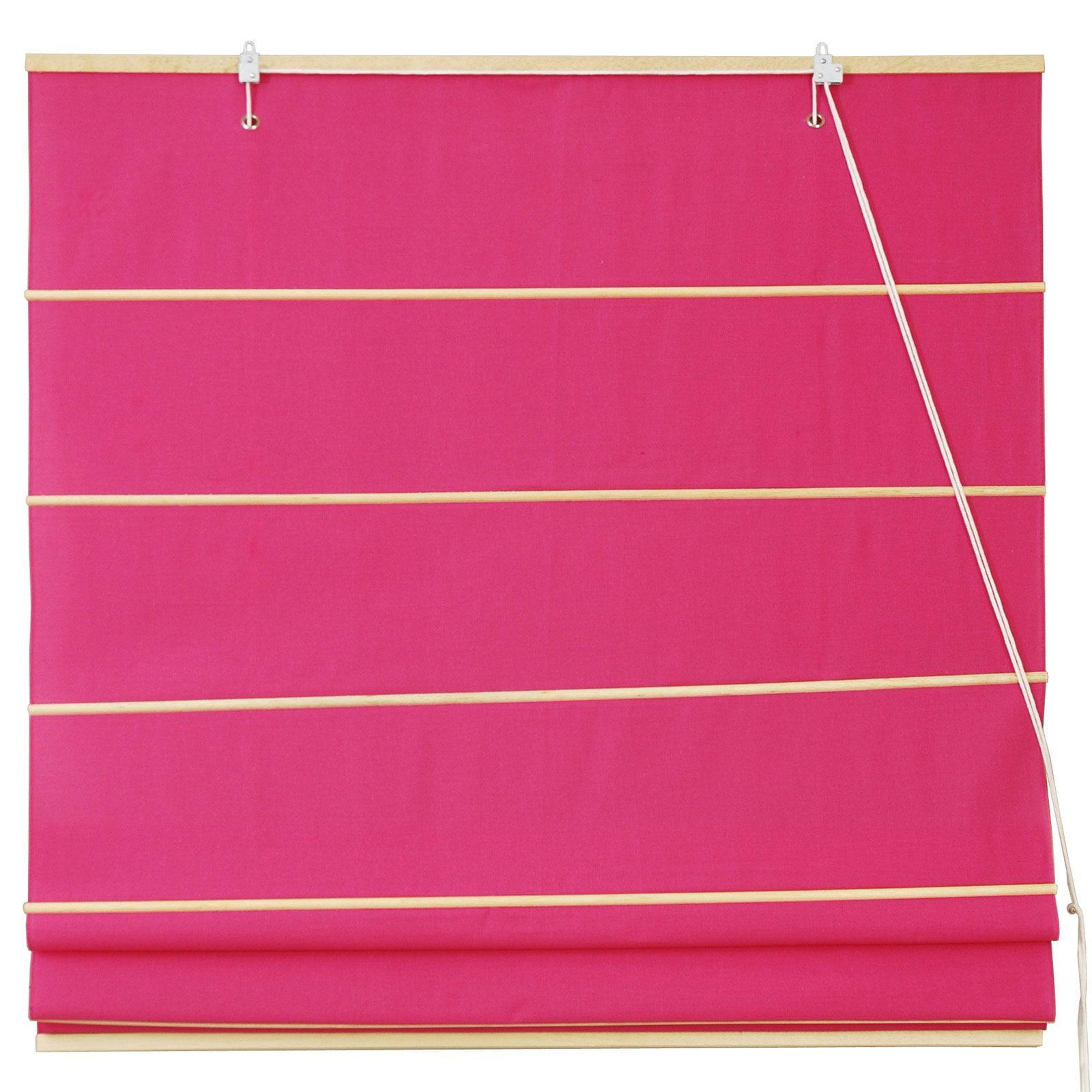 Cotton Roman Shades, Pink