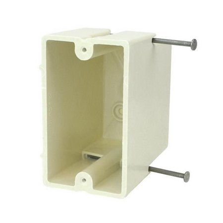Allied Moulded Products 1099-N Fiberglass Reinforced Thermoset Polyester 1-Gang Residential/Receptacle Electrical Switch Box 2-1/4 Inch x 3-27/32 Inch x 3-9/16 Inch 22.5 Cubic-Inch FiberglassBox (Plastic Electrical Box)