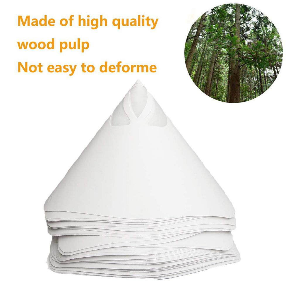 75 Pcs Paint Filter Resin Filter Disposable Paint Strainers100 Mesh With Funnel