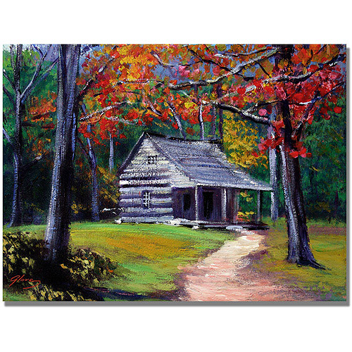 "Trademark Art ""Old Cabin"" Canvas Wall Art by David Lloyd Glover"