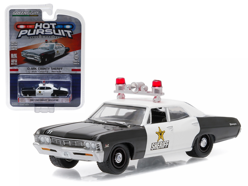 Chevrolet 1967 Biscayne Clark County Nevada Sheriff 1//64 by Greenlight 42770 A