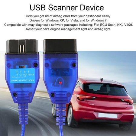 VAG KKL USB 409+ FIAT ECU Scan OBD OBD2 Diagnostic Scanner