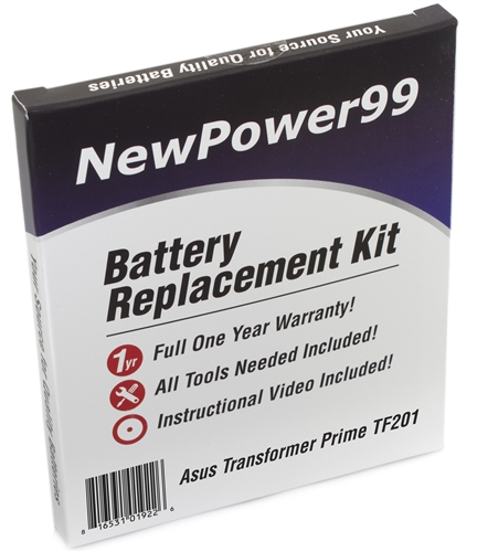 Asus EEE PAD Transformer Prime TF201 Battery KIT With Too...