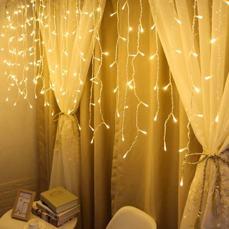 LED Window Curtain Icicle String Fairy Lights Wedding Party Christmas Decor YE ()