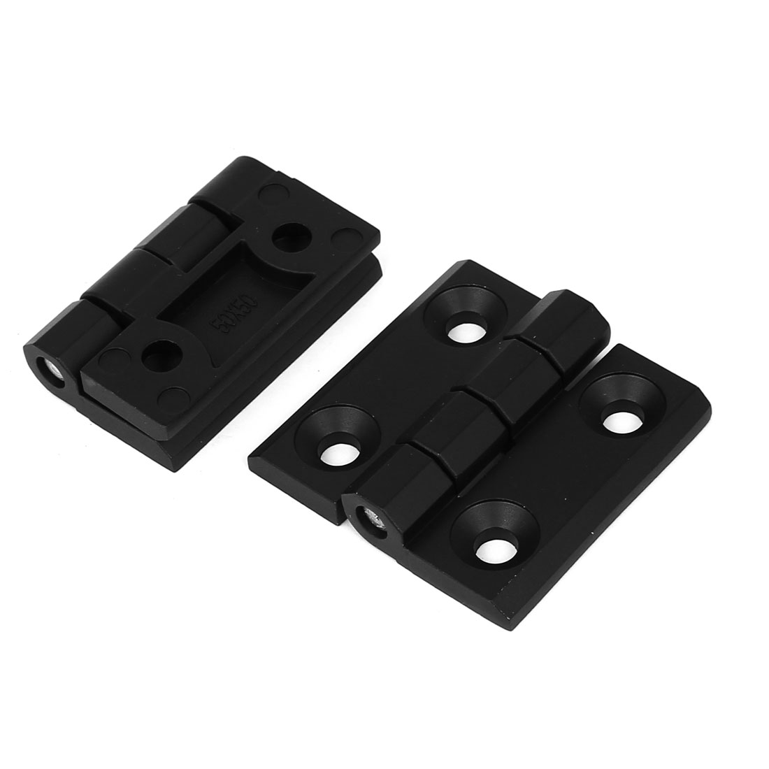 Uxcell Closet Cupboard Cabinet 50mm x 50mm Zinc Alloy Door  Hinge Black 2pcs - image 1 of 1