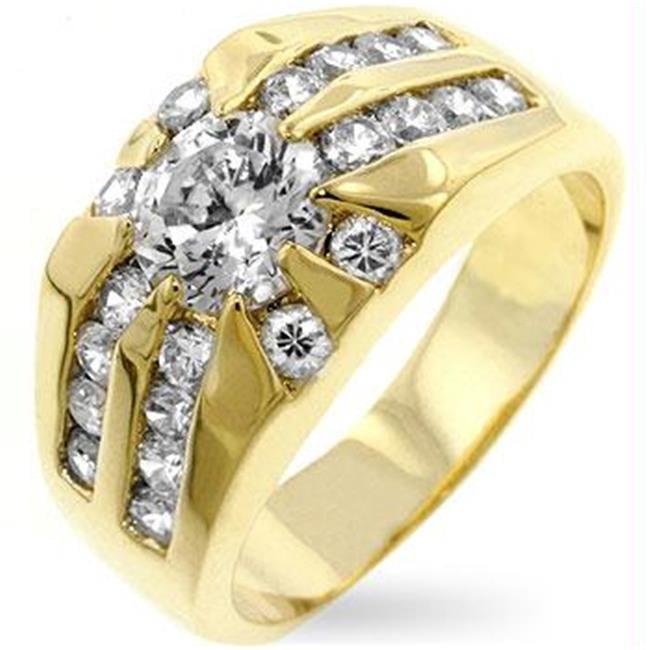 CZ Sunrise Ring, <b>Size :</b> 10