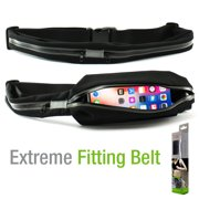 Sweat-Resistant Fitness Exercise Storage Belt with Dual Pockets Fanny Pack