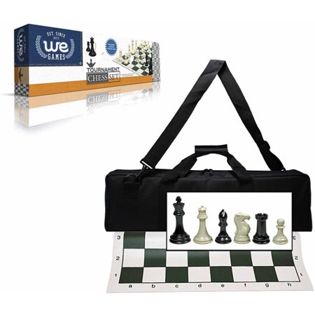 Premium Tournament Chess Set With Deluxe Black Canvas Bag  Super Weighted Staunton Chess Pieces  4  King