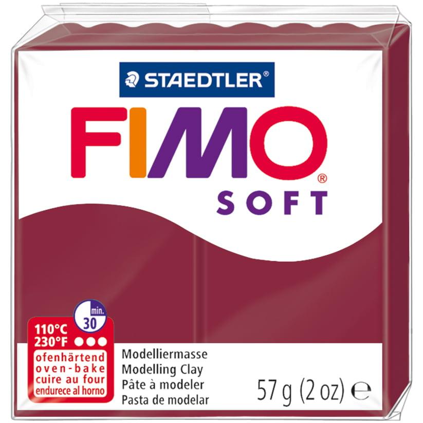 Fimo Soft Polymer Clay 2oz-Merlot