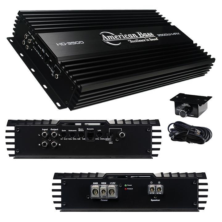 American Bass 3500W HD Series Amplifier