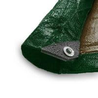 Moose Supply 12 Mil Heavy Duty Waterproof Poly Tarp Covers, 10' x 12'