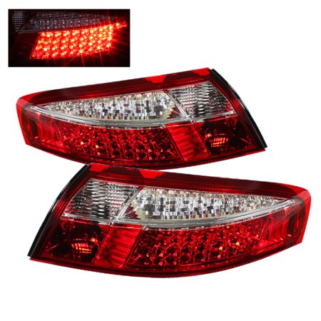 Xtune Porsche 911 996 ( Non 4S. Turbo. GT3 ) 99-04 LED Tail Lights Red Clear ALT-ON-P99699-LED-RC