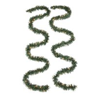 Holiday Time Prelit Clear Christmas Garland, 18 ft
