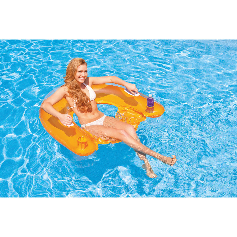 Intex Sit N Float Inflatable Lounge 60in X 39in Colors May Vary